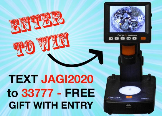 Text JAGI2020 to 33777 to enter to win a microscope!