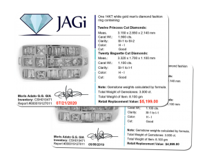 Update your appraisals to reflect current metal prices.