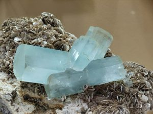 Aquamarine on Muscovite, Nagar Hunza Valley, Pakistan